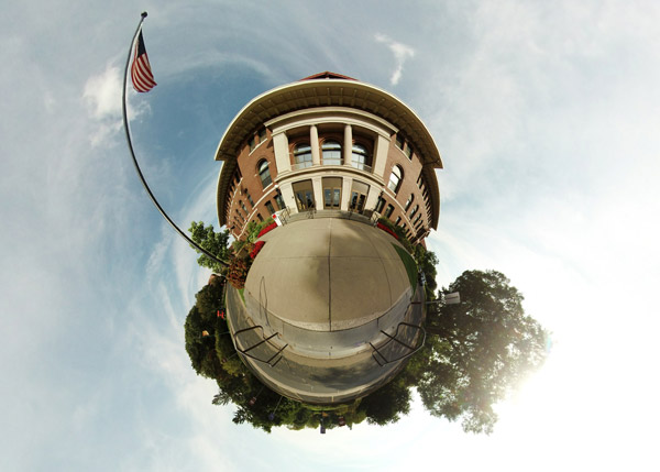 Coffey Hall Tiny Planet