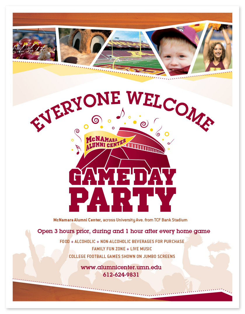 Gameday Party Flyer